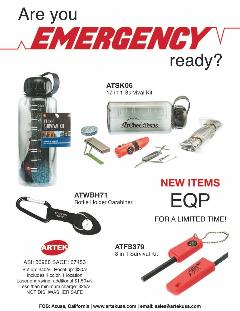 Are You EMERGENCY Ready? Survival Kit Sale!