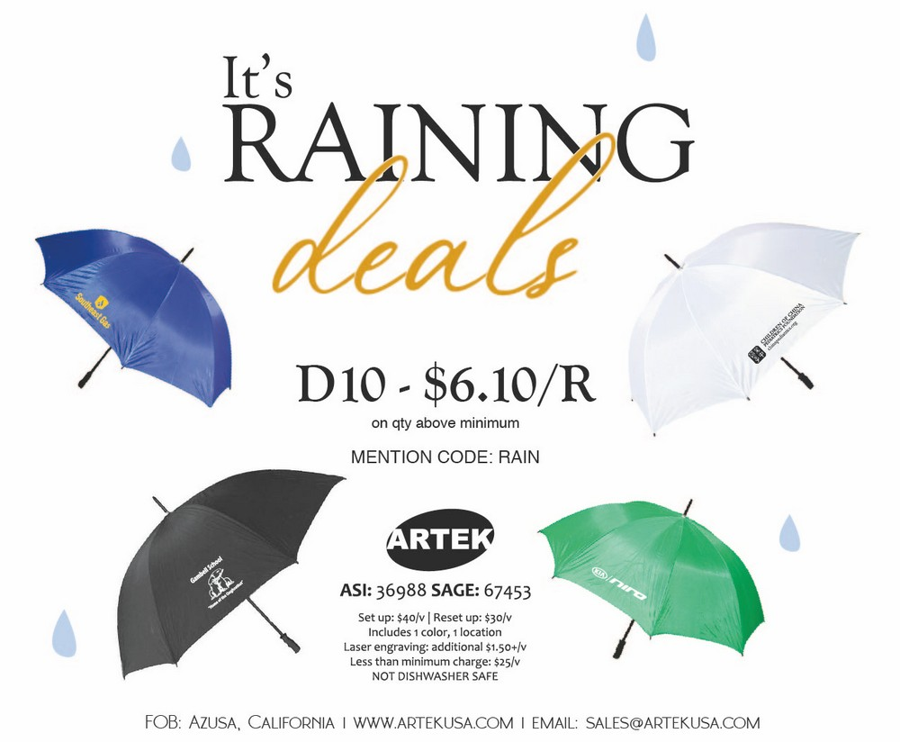 Special Price on LARGE golf umbrellas!