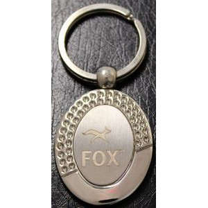 Metal Key Chain w/ Logo Laser Engraved