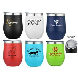 12 Oz. Double Wall Stainless Steel Vacuum Insulated Wine Cup