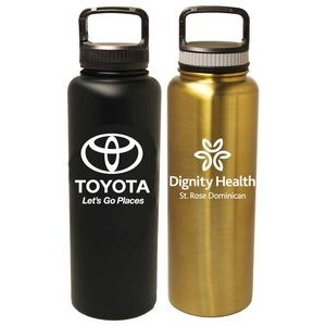 40 Oz. Stainless Steel Vacuum Insulated bottle with screw-on lid