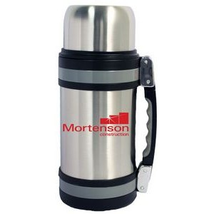 50 Oz. Vacuum Insulated Wide Mouth Bottle w/ Shoulder Strap