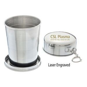 4 Oz. Stainless Steel Collapsible Shot Cup w/ Folding Cap
