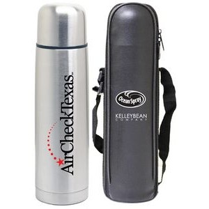 24 Oz. Slim Vacuum Insulated Bottle with Carry Bag