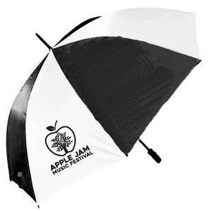 "2 Tone Golf Umbrella - Black/ White (58"" Arc)"