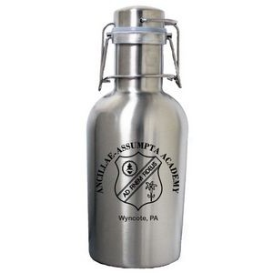 32 Oz. Single Wall Stainless Steel Beer Growler with Swing Top