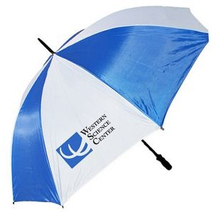 "2 Tone Golf Umbrella - White/Blue (58"" Arc)"