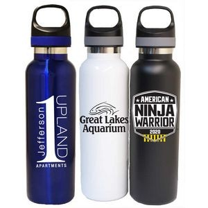 22 Oz. Vacuum Insulated S. Steel Bottle, 2 tone lid