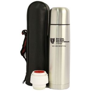 32 Oz. Slim Thermal Bullet Bottle with pouch