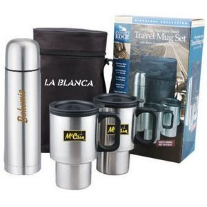 Combo Pack w/ 2 Travel Mugs & Thermos Bottle