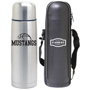 12 Oz. Slim Vacuum Thermal Bullet Bottle with Carry Bag