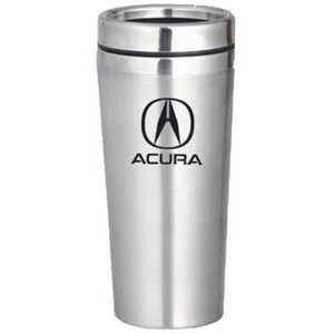 16 Oz. Silver Double Stainless Steel Travel Tumbler