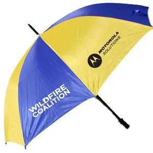 "2 Tone Golf Umbrella - Gold/ Navy Blue (58"" Arc)"