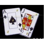 Playing Cards / Ace & Jack of Spades Flash Lapel Pin