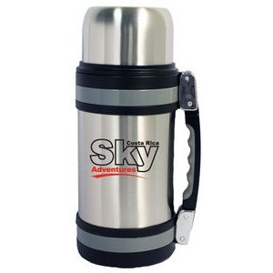 32 Oz. Vacuum Insulated Wide Mouth Bottle w/ Shoulder Strap