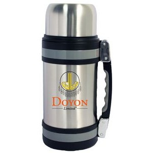 60 Oz. Vacuum Insulated Wide Mouth Bottle w/ Shoulder Strap