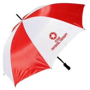 "2 Tone Golf Umbrella - Red/ White (58"" Arc)"