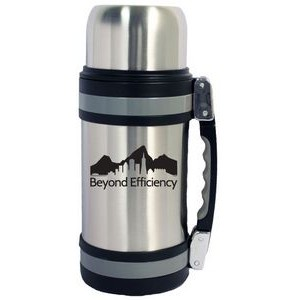 40 Oz. Vacuum Insulated Wide Mouth Bottle w/ Shoulder Strap