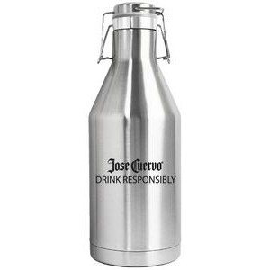 64 Oz. Double Wall Vacuum Insulated Stainless Steel Beer Growler with Swing Top